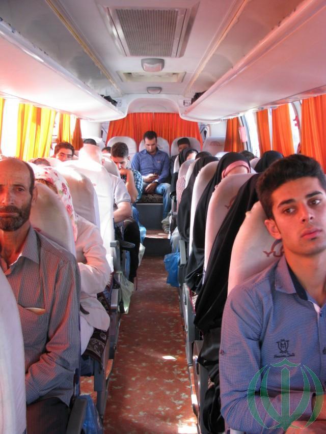 В салоне автобуса.