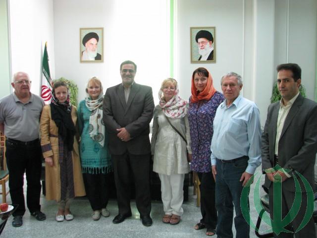 Мы и глава города Нахаванд господин Абдолмалеки. Фото на память.