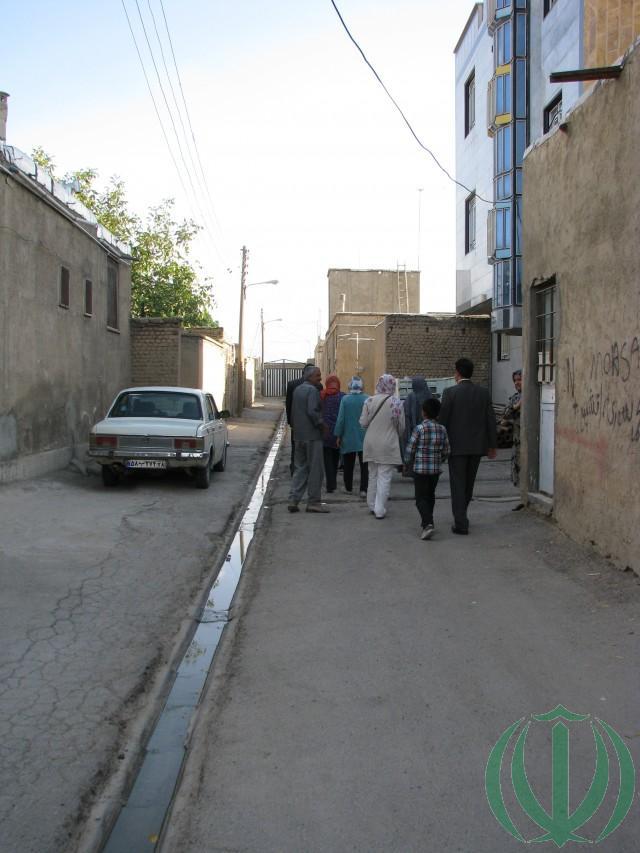 Улочка в поселке Барзоол.