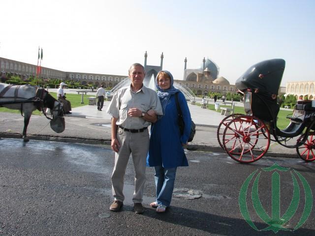 На площади Имама Хомейни в Исфахане