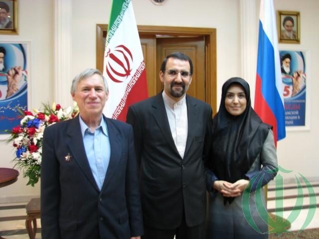 В.Н. Галочкин (слева) и Чрезвычайный и Полномочный Посол Исламской Республики Ирана в России, академик Мехди Санаи с супругой