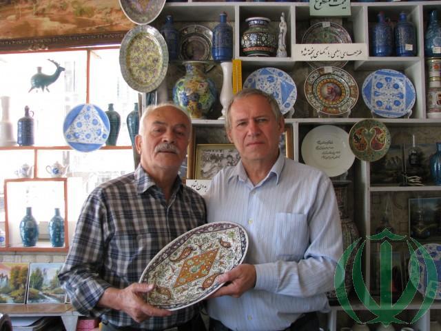 В.Н.Галочкин (справа) и Маэстро из Хамадана