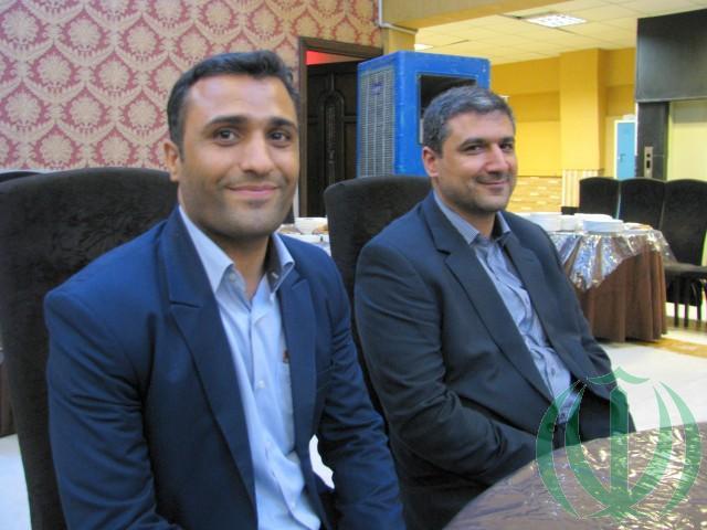 Господа Мохсен Хагбин и Хамидреза Азади (справа)
