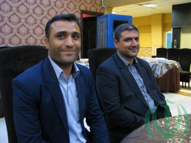 Уважаемые Мохсен Хагбин (слева) и Хамидреза Азади