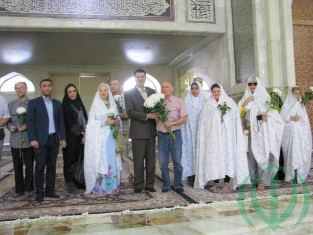 Бехешт-е-Захра. Мавзолей Имама Хомейни. Гости из Латвии. 7 сентября 2015 г.