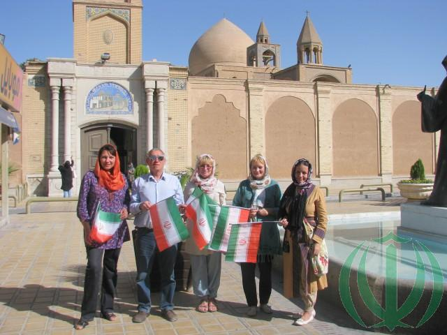 Друзья Ирана у церкви Ванк