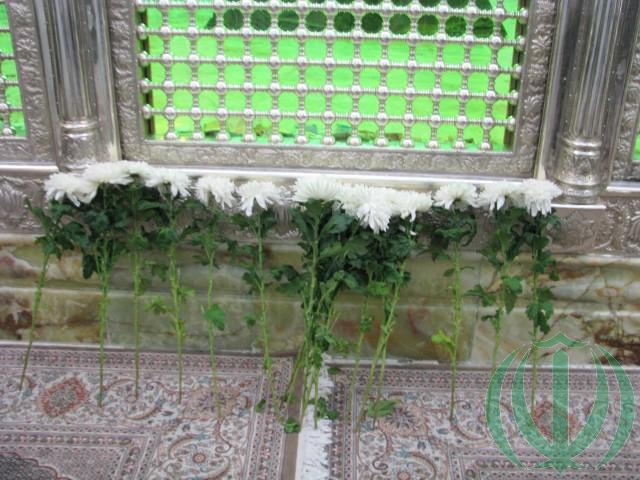 Цветы из Латвии у Мавзолея Имама Хомейни.