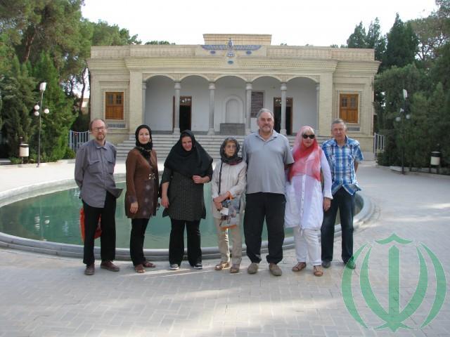 Друзья Ирана у храма Атеш Варе Херам Язд